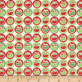 Fabric Freedom Christmas Character Ornaments Green