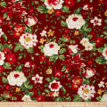 Crimson & Holly Large Floral Red