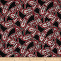 Essentials 10 Paisley Red
