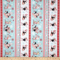 Peppermint Penguin Skiing & Sledding Stripe Red