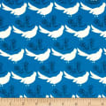 Seven Islands Birds and Nests Canvas Blue