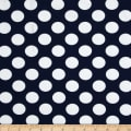 Telio Paola Pique Knit Large Dots Navy/Ivory