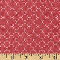 Riley Blake Mini Quatrefoil Coral