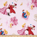 Disney Sleeping Beauty Character Toss Light Pink