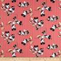 Disney Mickey & Minnie Vintage Minnie & Mickey Stripe Red