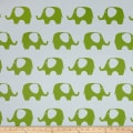 RCA Elephant Blackout Drapery Fabric Green