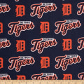 MLB Cotton Broadcloth Detroit Tigers Orange/Navy