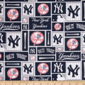 MLB Cotton Broadcloth New York Yankees Blue/White