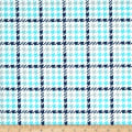 Kaufman Cozy Cotton Flannel Houndstooth Jade