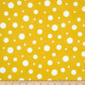 Kaufman Cozy Cotton Flannel Random Dots Yellow