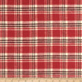 Kaufman Mammoth Flannel Plaid Redwood