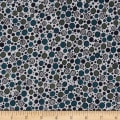 Talia Metallic Graphic Dots Dune/Silver