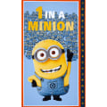 QT Fabrics Universal Despicable Me 1 in A Minion 24 In. Panel Dusty Blue
