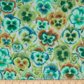 Kaffe Fassett Pansies Green