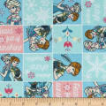 Disney Frozen Forever Flannel Sisters Frozen Fever Patch Light Aqua