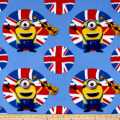 QT Fabrics Despicable Me Fleece Minions UK Guitars Blue