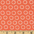 Cycles of Life Doodle Dots Circles Orange