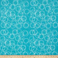 Riley Blake Four Corner  Circle Teal