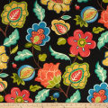 Swavelle Indoor/Outdoor Jovino Floral Eclipse Black