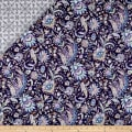Notting Hill Double Sided Quilted Paisley Floral Purple