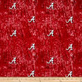 Collegiate Cotton Broadcloth University of Alabama Tie Dye Print Red