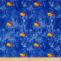 Collegiate Cotton Broadcloth University of Kansas Tie Dye Print Navy
