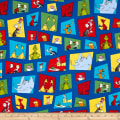 Dr. Seuss Celebrate Seuss Character Blocks Blue