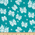 Riley Blake Double Gauze Flutter Teal