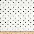 Premier Prints Mini Stars Twill White/Premier Navy