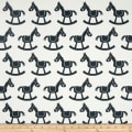 Premier Prints Rocking Horse Twill White/Gunmetal