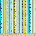 Animal ABC's Stripe Turquoise