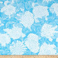 Kaufman Mystic Canvas By Valori Wells Floral Bouquet Azure