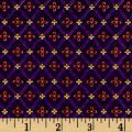 Fabric Merchants Cotton Lycra Spandex Jersey Knit Diamond Star Print Plum