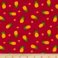 Fabric Merchants Cotton/Lycra Spandex Jersey Knit Pineapple Hot Pink