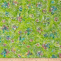 Indian Batik Caledonia Garden Small Floral Green