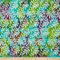 Indian Batik Sarasota Vine Lime/Aqua/Purp