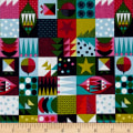 Wrap It Up Abstract Christmas Icons Multi