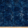 Wilmington Batiks Wriggling Leaves Dark Blue