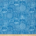 Heavenly Angel Medallions Toile Dark Blue
