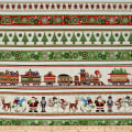 QT Fabrics Santa Coming To Town Christmas Decorative Sstripe Multi