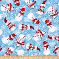 Sweet Season Snowman Toss Light Blue