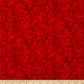 Christmas Dreams Scroll Red