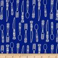 Cotton + Steel Bluebird Cutlery Periwinkle