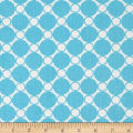 108'' Wide Quilt Back Spot on Circle Grid Turquoise