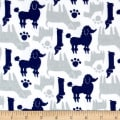 Flannel Dog Silhouettes Navy