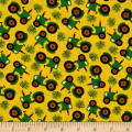 Barnyard Quilts Tractor Yellow/Green