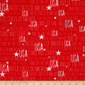 Stars And Sstripes Words Red