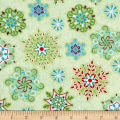 Sparkle Snowflakes Green/Multi