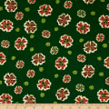 Noel Metallic Medallion Flower Green
