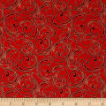 Joyful Metallic Festive Scroll Red